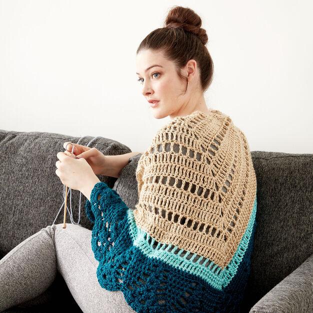 Caron Crochet Comfort Shawl