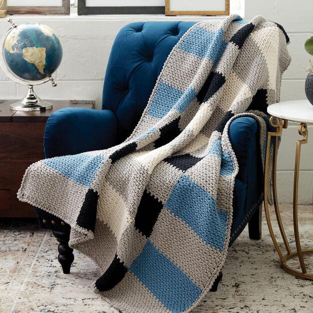 Bernat Big Plaid Crochet Blanket