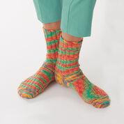 Bernat Staggered Rib Socks, Size 5/6