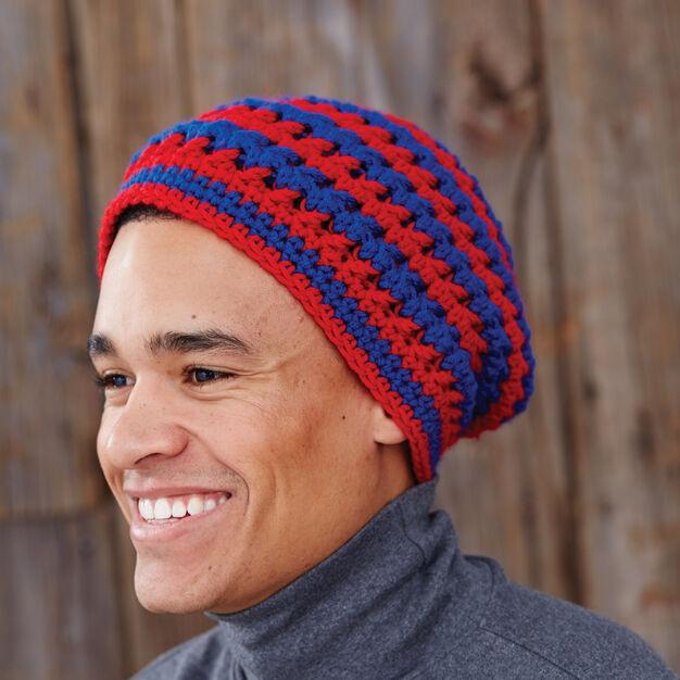 Bernat Patriotic Spirit Hat, Russia