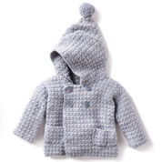 Bernat Big Kid Cozy Crochet Hoodie, 2 yrs