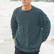 Patons Men's Tilework Textured Pullover, Classic Wool - S