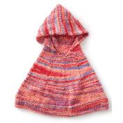 Bernat Reach For The Rainbow Knit Poncho