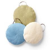 Lily Sugar'n Cream Spiral Crochet Pillow, Soft Ecru