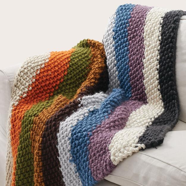 Bernat Seed Stitch Blanket Yarnspirations