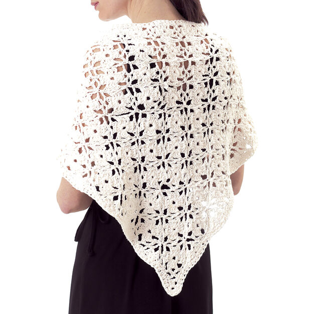 Lily Sugar'n Cream Floral Shawl