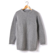Caron Adult Crochet Crew Neck Pullover, XS/S