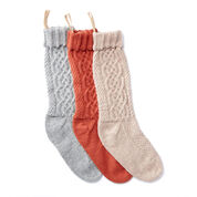 Patons Sugar Twist Knit Stocking, Grey