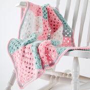 Caron Springtime Squares Blanket