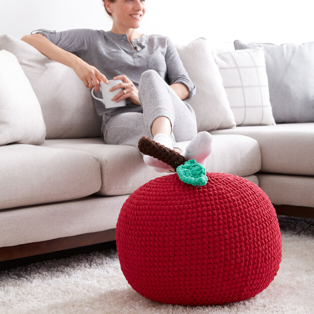 Bernat Crochet Apple A Day Pouf