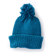 Caron Ribbed Family Knit Hat