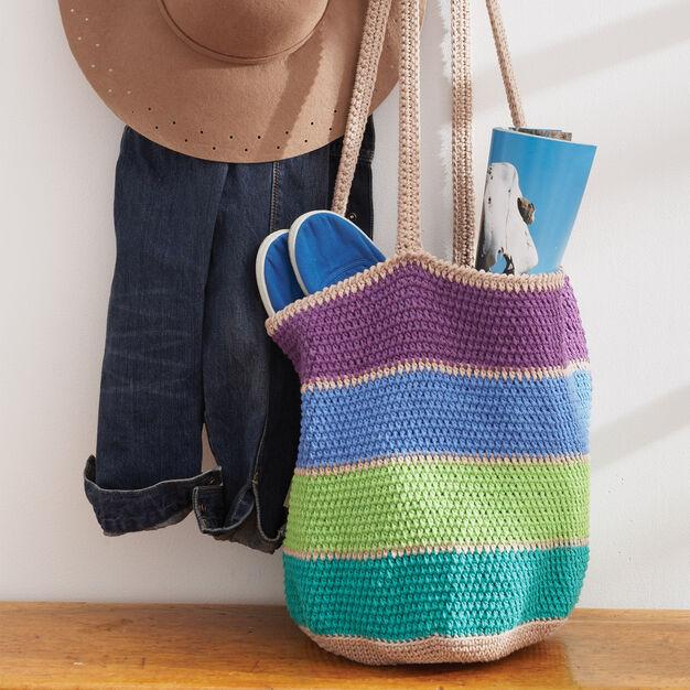 Lily Sugar'n Cream Striped Market Tote Bag, Version 1