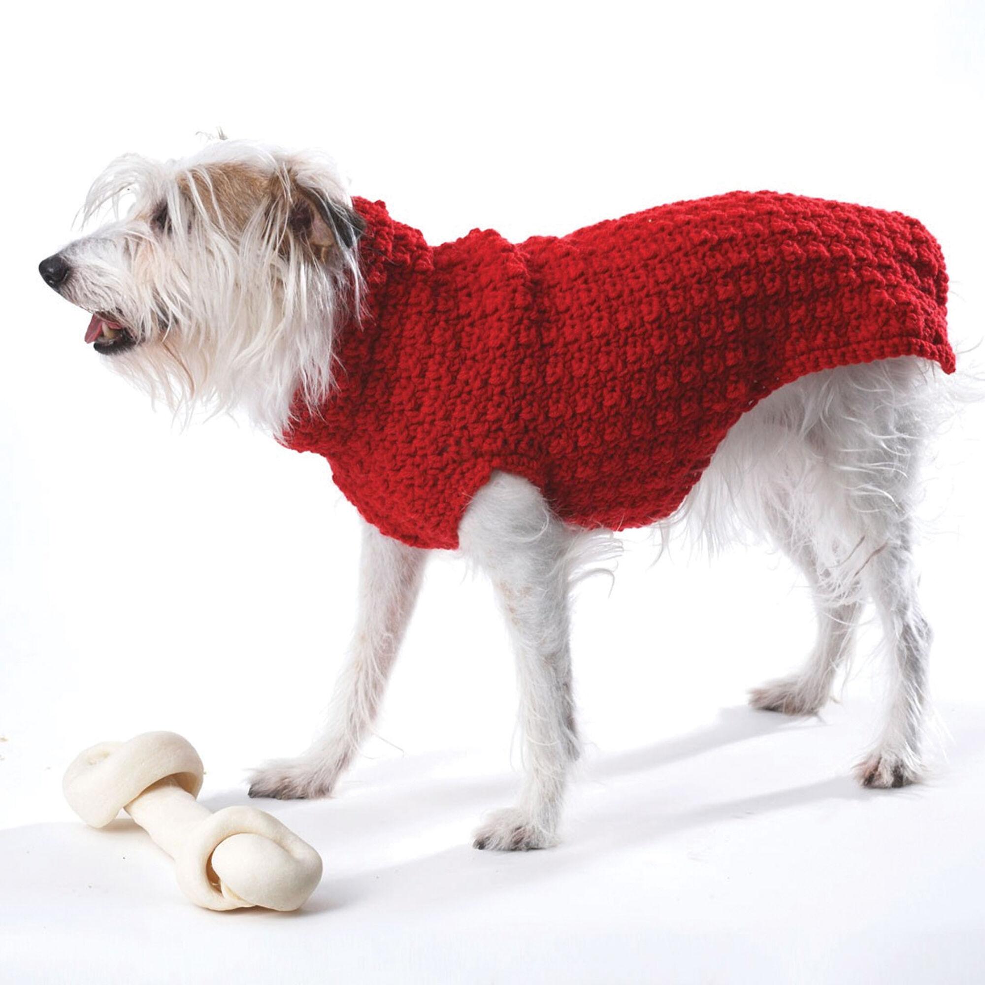 Bernat Crochet Dog Coat, S | Yarnspirations