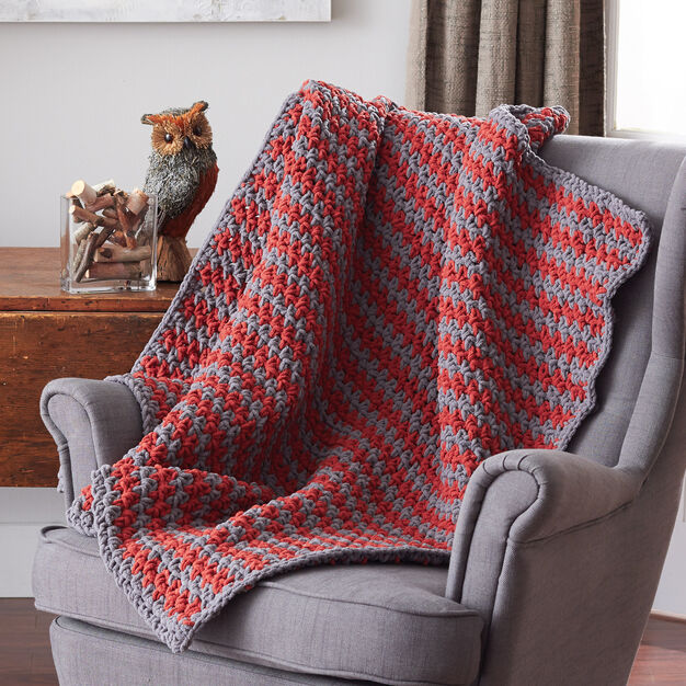 Bernat Sawtooth Afghan, Version 1