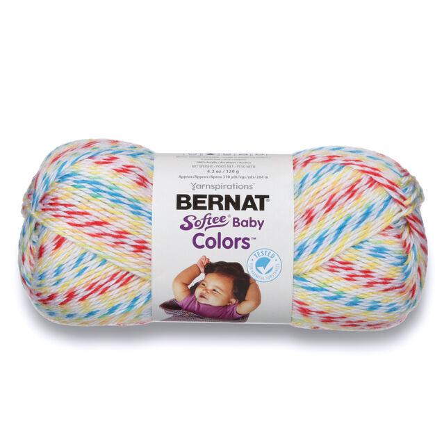 Bernat Softee Baby Colors Yarn, White Rainbow - Clearance Shades*