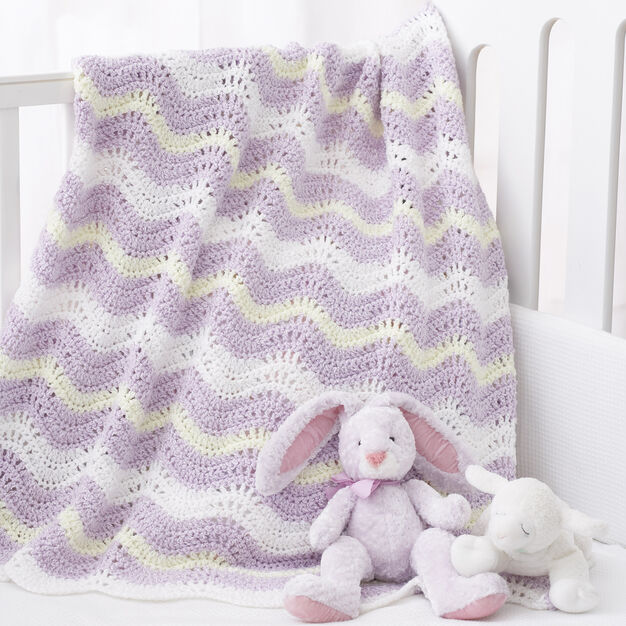 Bernat Wavy Ripple Blanket