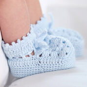 Patons Granny Motif Crochet Booties, 6 mos
