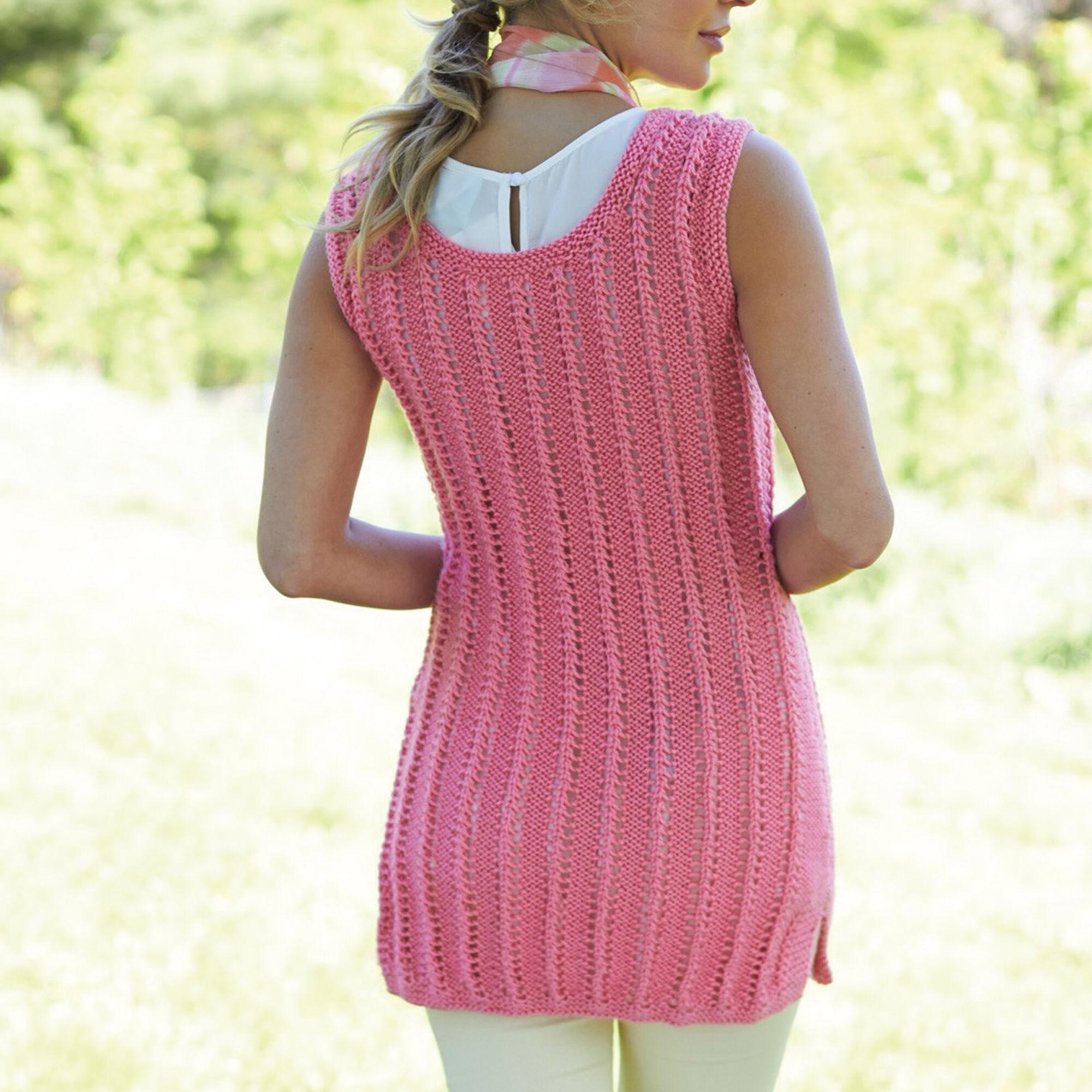 Caron Knit Tank Tunic, S Pattern | Yarnspirations