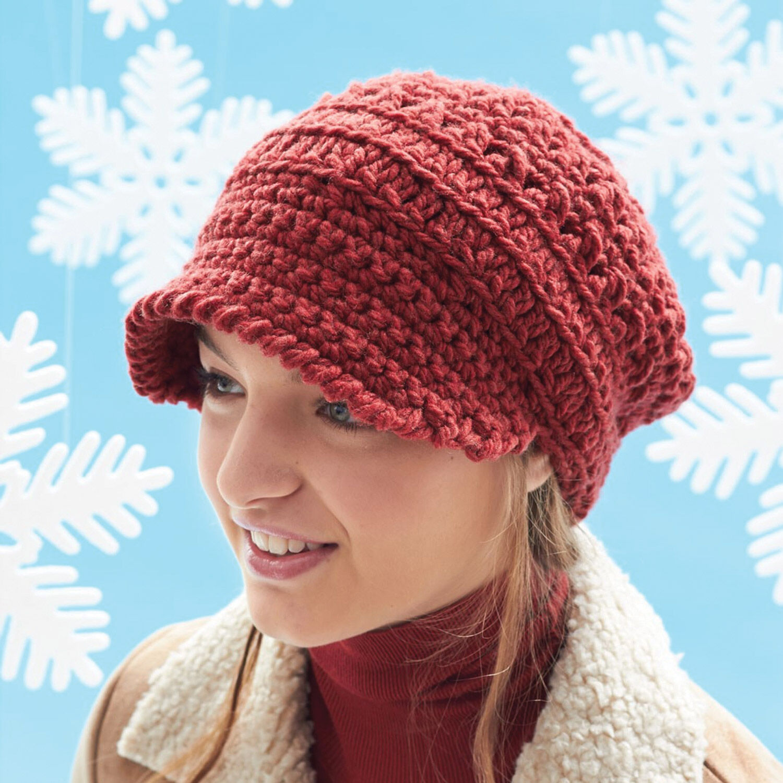 slouchy newsboy hat crochet pattern free