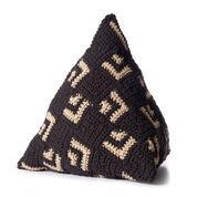 Caron Crochet Mosaic Pillow