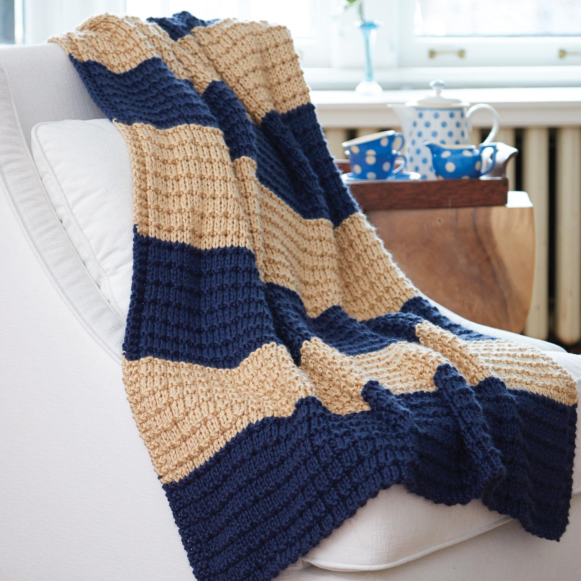 Caron Easy Breezy Knit Blanket, Version 1   Yarnspirations