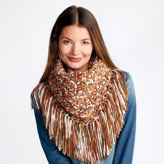 Bernat Fringy Crochet Cowl