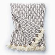 Bernat Trellis & Tassels Knit Afghan