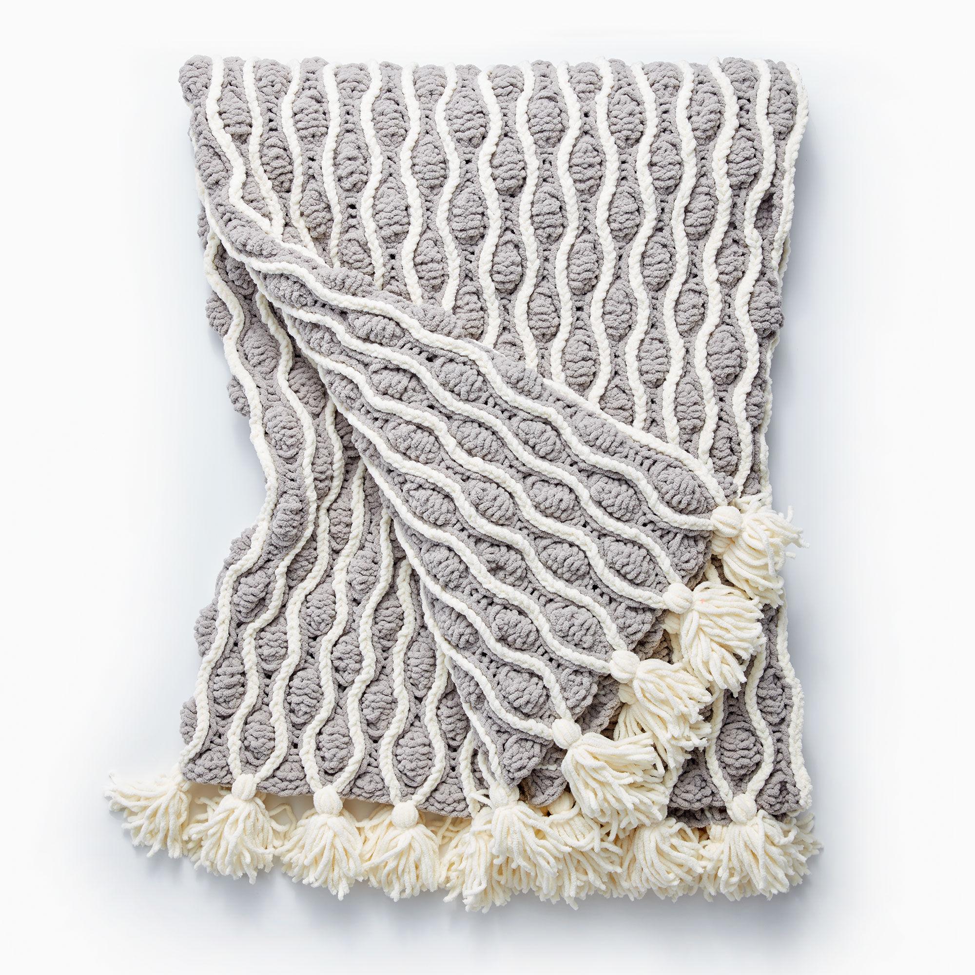 Bernat Trellis & Tassels Knit Afghan | Yarnspirations