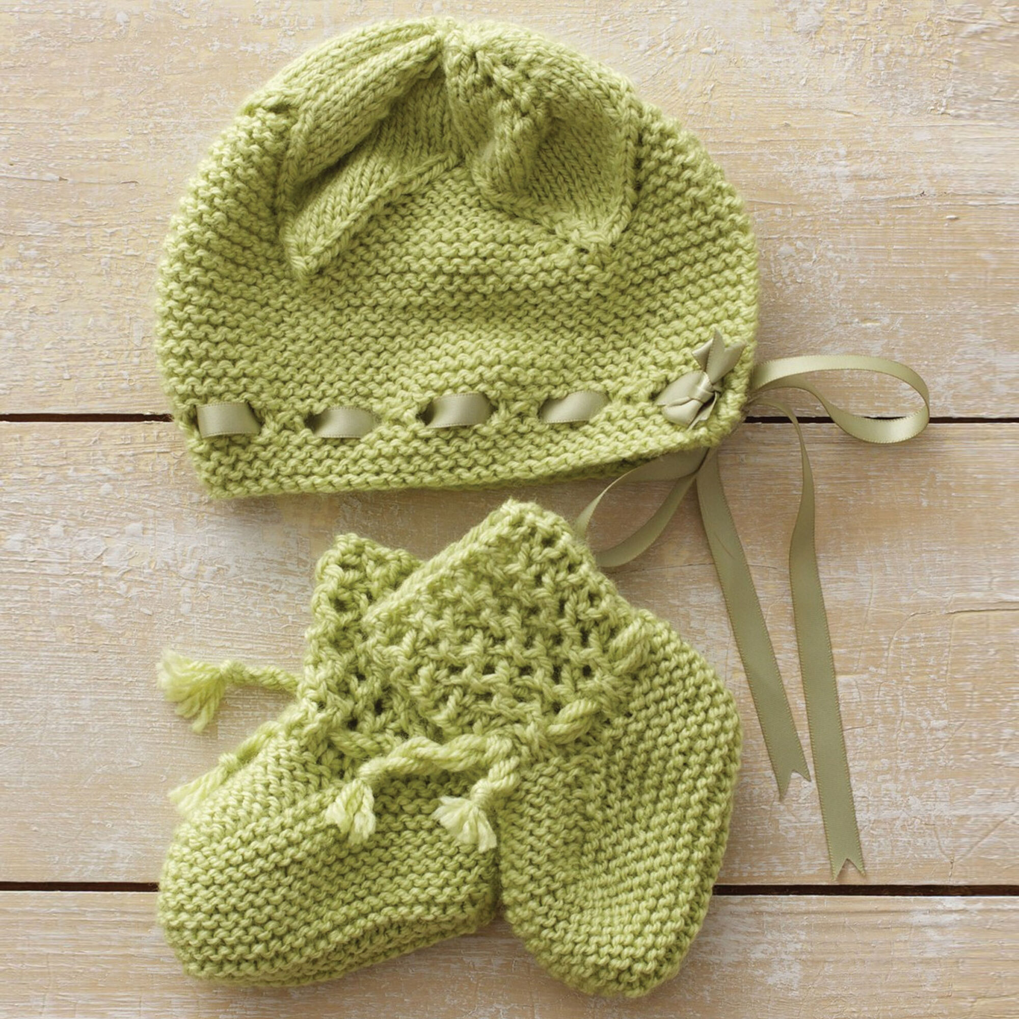 Bernat Leaf and Lace Set, Jacket - 3 mos | Yarnspirations