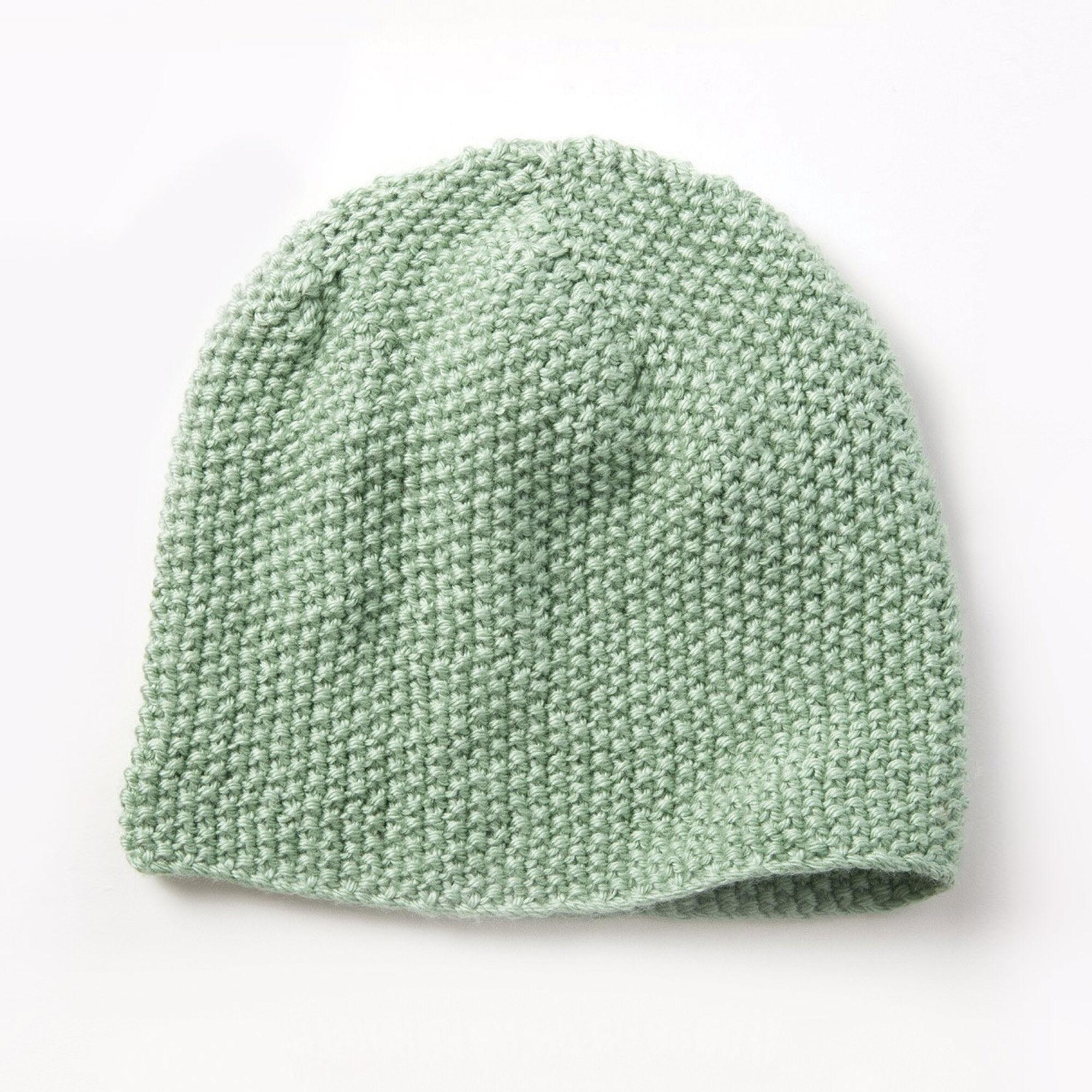 caron seed stitch beanie yarnspirations