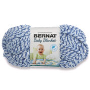 Bernat Baby Blanket Marl Yarn, Blue Twist