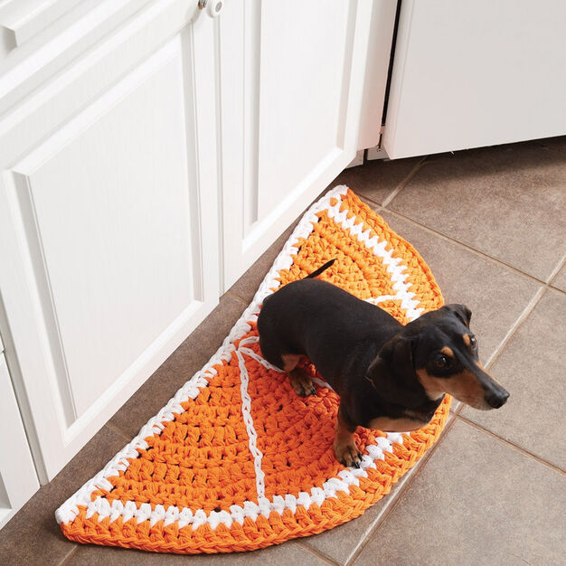 Lily Sugar'n Cream Citrus Slice Crochet Rug