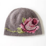 Bernat Coming Up Roses Hat
