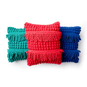 Bernat Bobble Fringe Crochet Pillow, Malachite