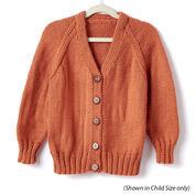 Caron Adult Knit V-Neck Cardigan, XS/S