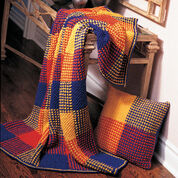 Patons Boldly Colored Plaid, Afghan
