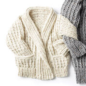 Caron Crochet Chill Time Child's Cardigan, Size 4