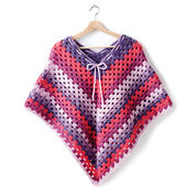Bernat Girl's Crochet Poncho