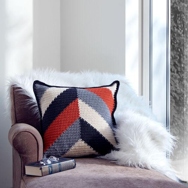 Caron Bold Angles Crochet Pillow