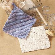 Lily Sugar'n Cream Simple Ridge & Eyelet Dishcloth