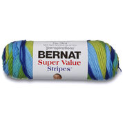Bernat Super Value Stripes Yarn, Meadow Stripes