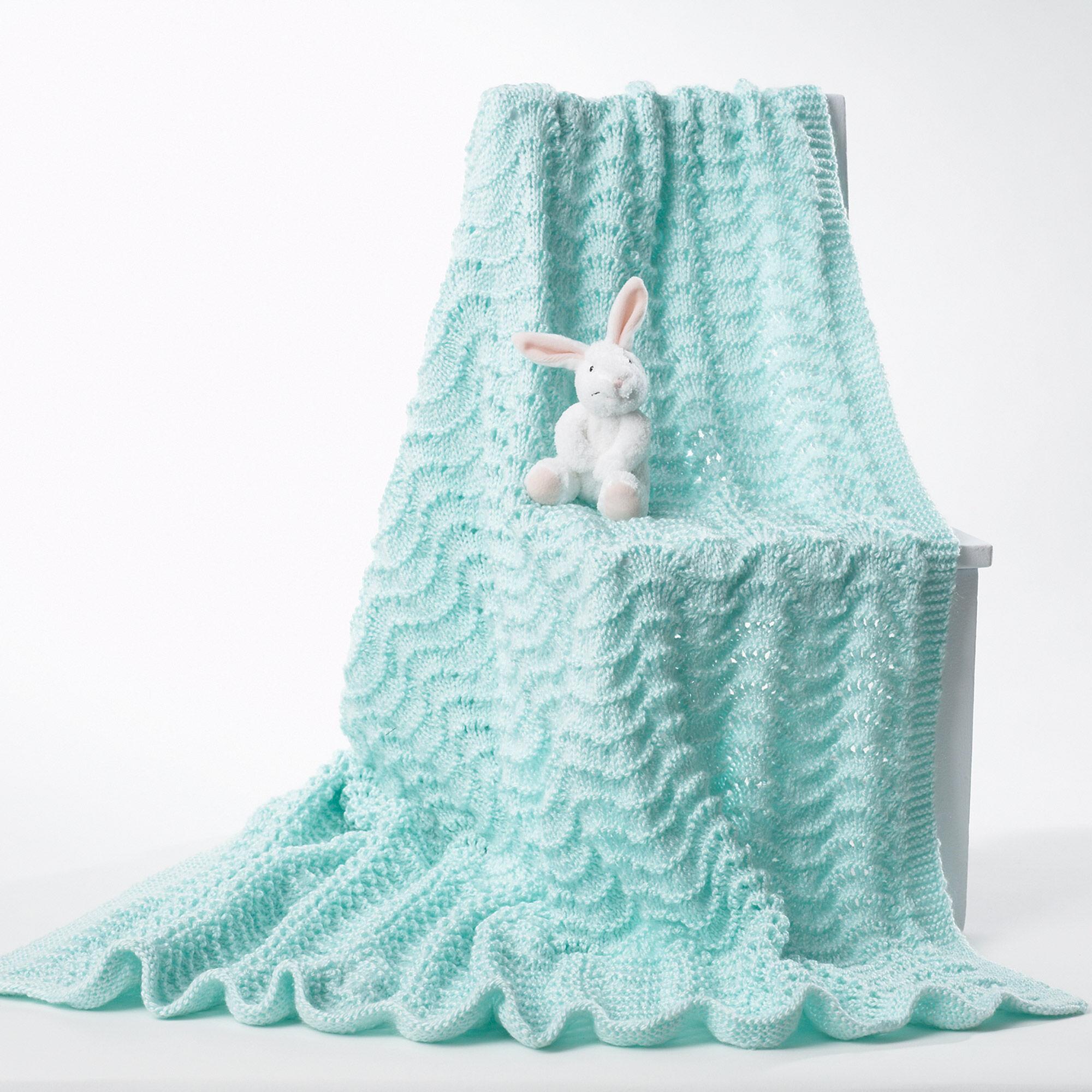 Bernat Knit Baby Blanket, Yellow | Yarnspirations