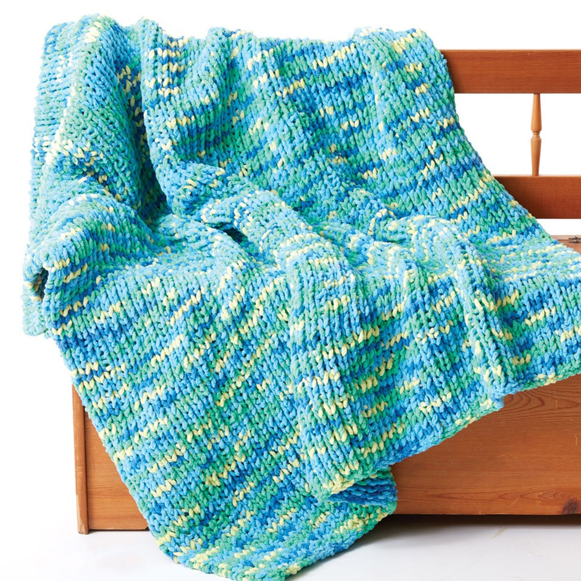 Bernat Supersquish Knit Blanket   Yarnspirations