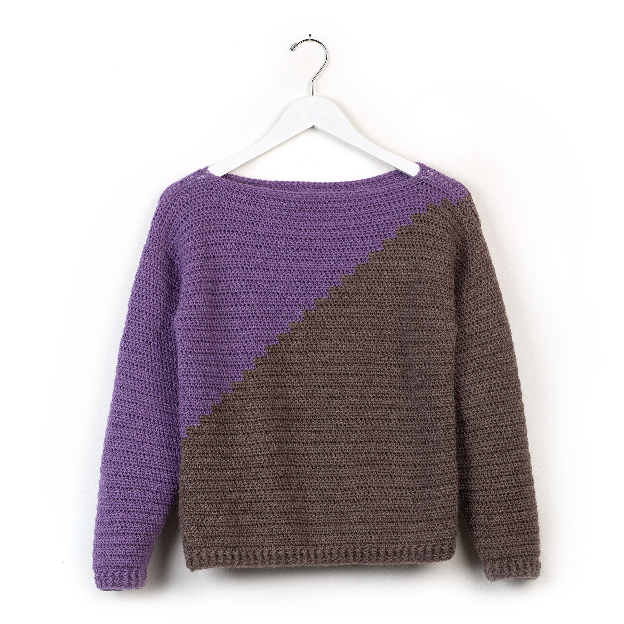 Patons Slanted and Enchanted Crochet Sweater, XS/S