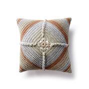 Caron Granny Square Crochet Pillow