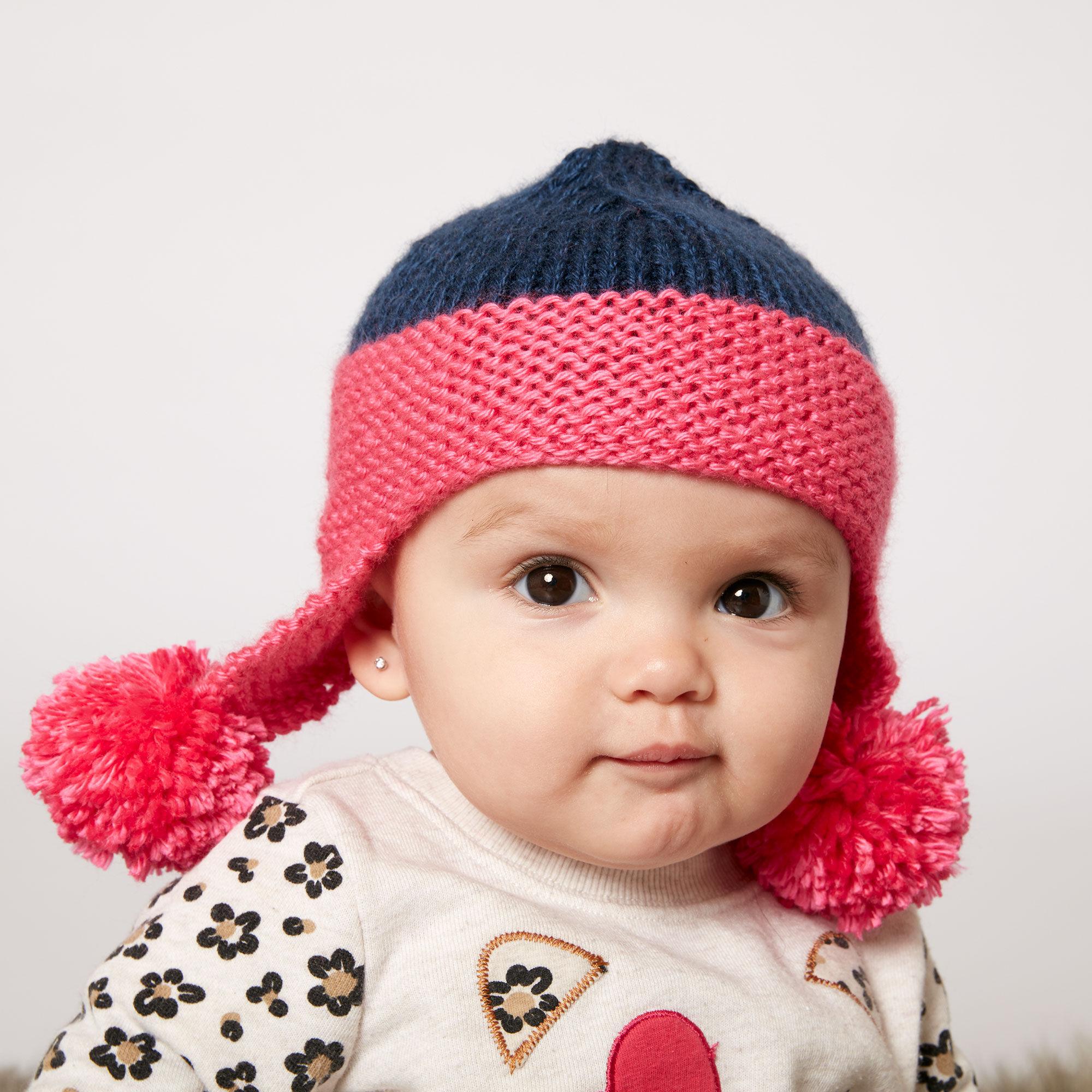 Caron Baby Earflap Hat | Yarnspirations
