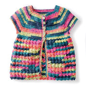 Caron Easy Way Down Crochet Cardigan, 4 yrs