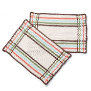 Lily Sugar'n Cream Mad For Plaid Crochet Placemat