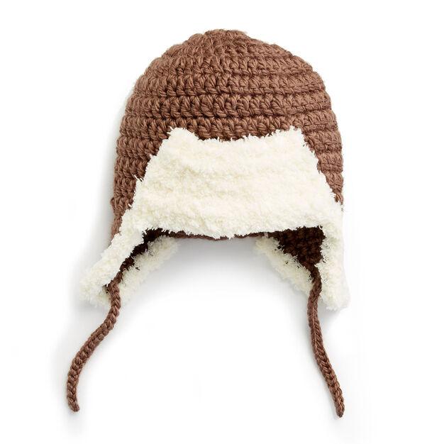 Bernat Little Trapper Hat, 6-12 mos. Pattern | Yarnspirations
