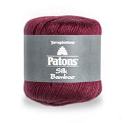 Patons Silk Bamboo Yarn, Plum